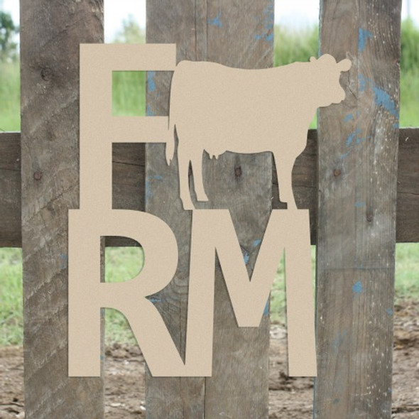 Farm Cow Sign Wall Art Wooden DIY Craft MDF