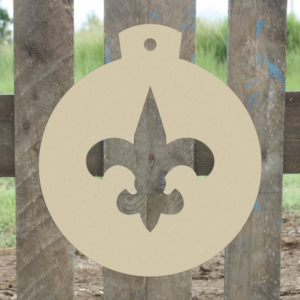 Christmas Ornament Fleur de Lis Unfinished Cutout, Wooden Shape