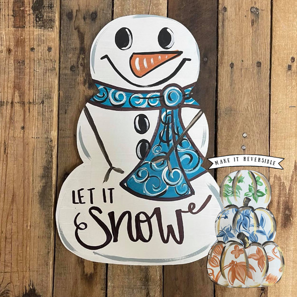 Snowman OR Pumpkin Stack without stem Unfinished Cutout, Wooden Shape