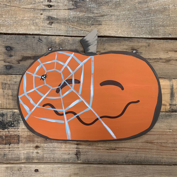 Wide Pumpkin Cutout DIY Craft