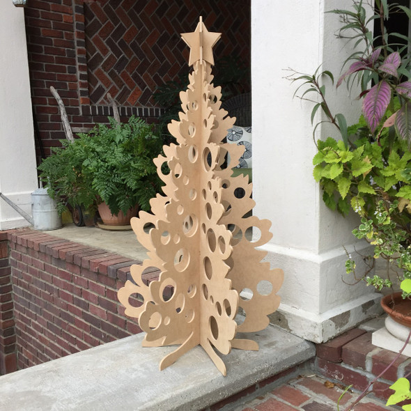Free Standing Christmas Medium Size (41in) , Unfinished MDF