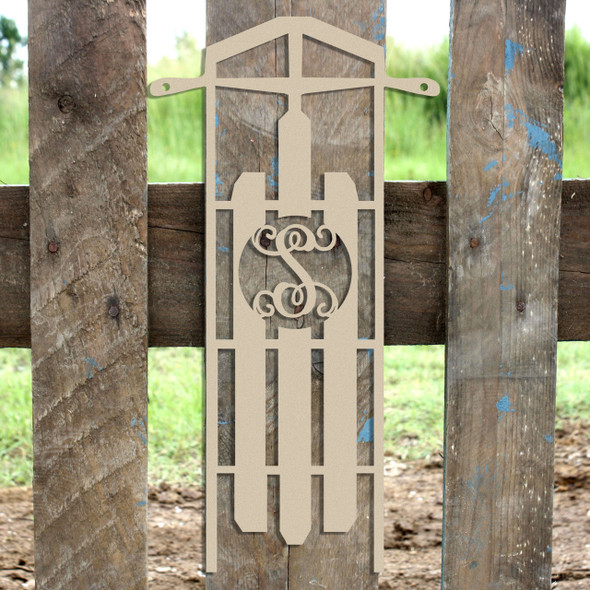 Sled Frame Monogram Letter Wooden - Unfinished  DIY Craft
