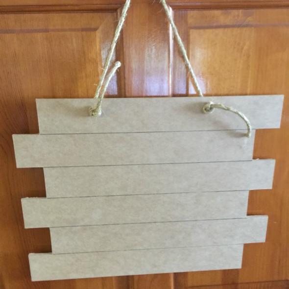 15'' x 19.5'' Six Panel Door Hanger 1/4'' Shiplap wall decor
