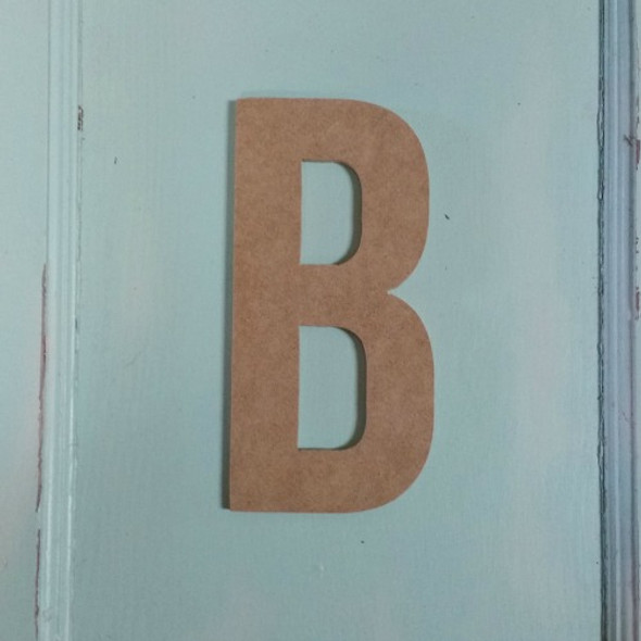Unfinished Wooden Alphabet Letter Wall Decor Bebas Neue Unpainted