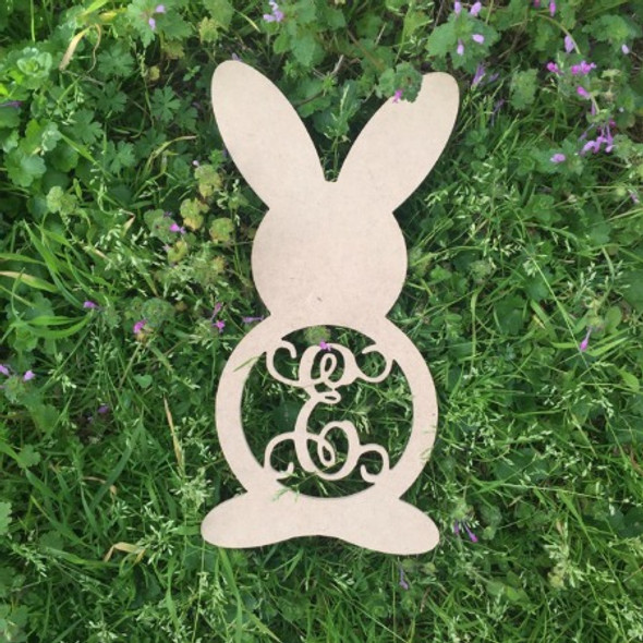 Bunny Rabbit Monogram Letter Wooden - Unfinished  DIY Craft