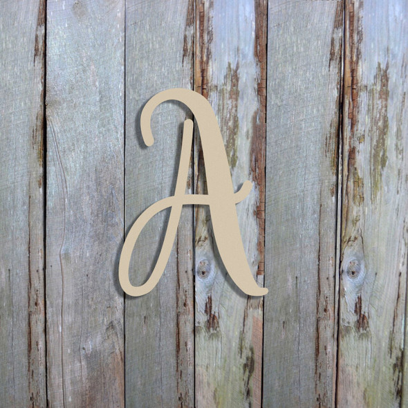 Unfinished Letter Made Out of Wood
