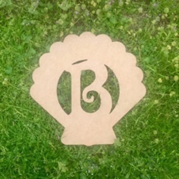 Seashell Monogram Beltorian Letter Wooden - Unfinished  DIY Craft