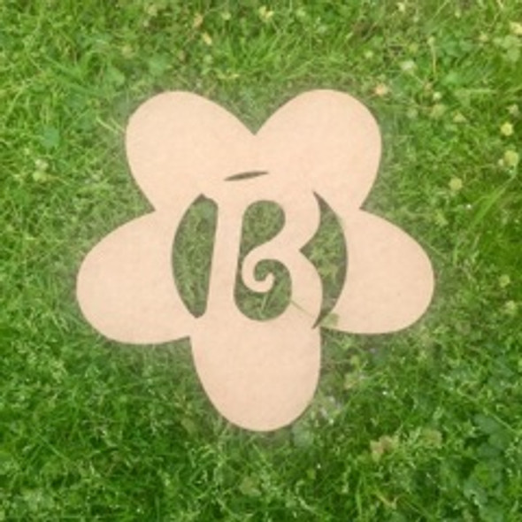 Daisy Monogram Beltorian Letter Wooden - Unfinished  DIY Craft