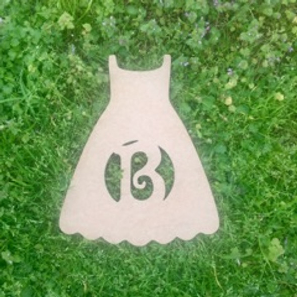 Sun Dress Monogram Beltorian Letter Wooden - Unfinished  DIY Craft