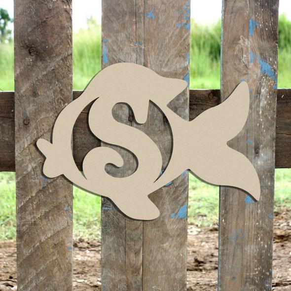 Goldfish Monogram Beltorian Letter Wooden - Unfinished  DIY Craft
