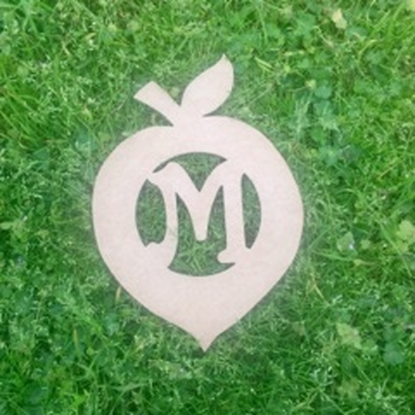Peach Monogram Beltorian Letter Wooden - Unfinished  DIY Craft
