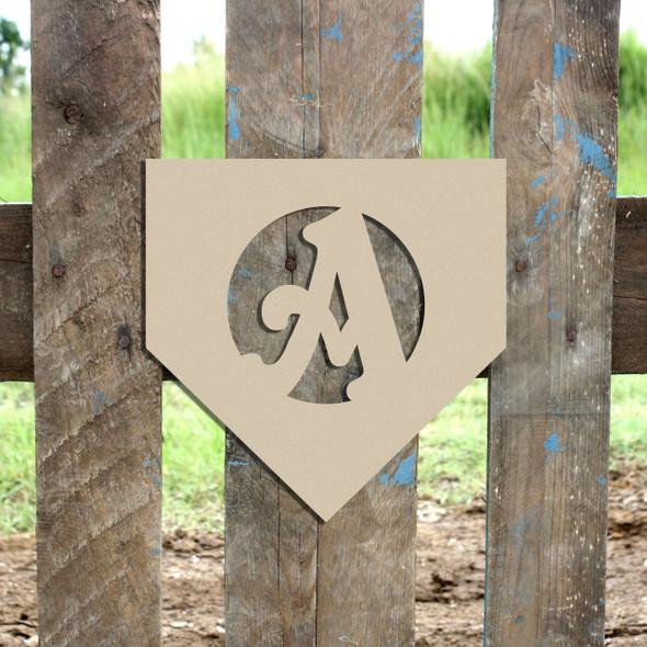Homeplate Monogram Beltorian Letter Wooden - Unfinished  DIY Craft