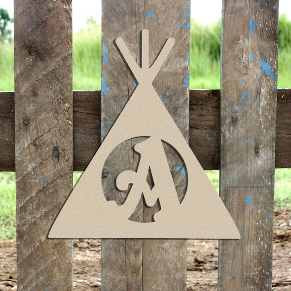Teepee Monogram Beltorian Letter Wooden - Unfinished  DIY Craft