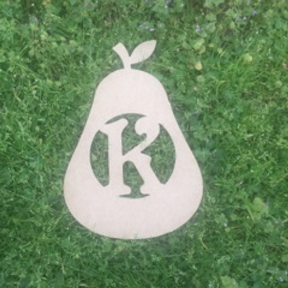 Pear Monogram Beltorian Letter Wooden - Unfinished  DIY Craft