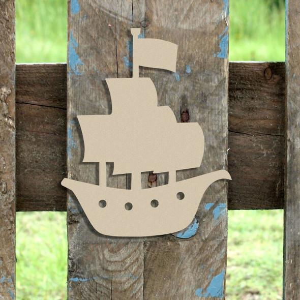 Pirate Ship Unfinished Cutout