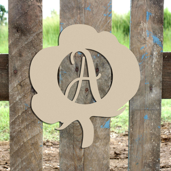 Cotton Frame (Freestyle) Monogram Letter Wooden Unfinished DIY Craft