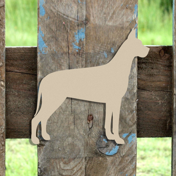 Great Dane Unfinished Cutout, Wooden Shape,  Paintable MDF DIY Craft