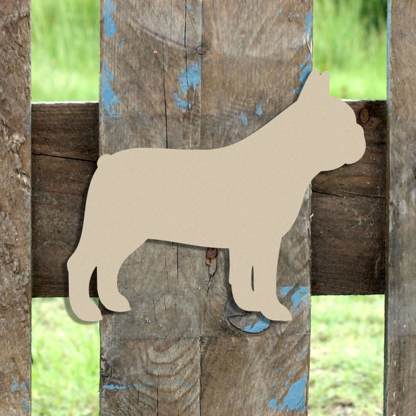 French Bulldog Unfinished Cutout, Wooden Shape,  Paintable MDF DIY