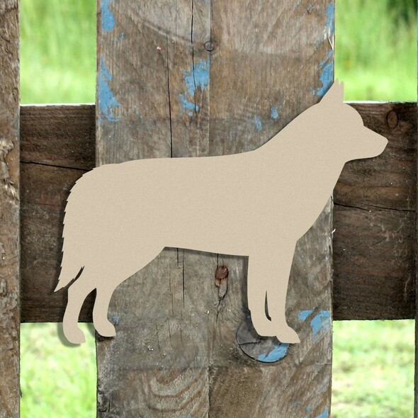 Husky Unfinished Cutout, Wooden Shape,  Paintable MDF DIY