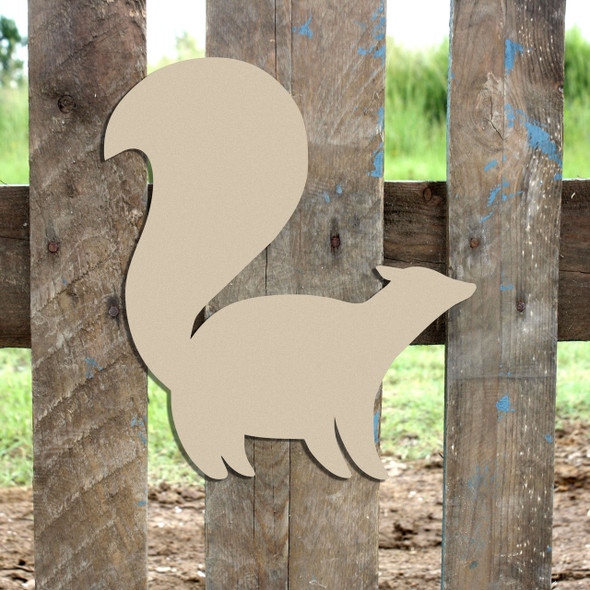 Woodland Skunk Unfinished Cutout, Wooden Shape,  Paintable MDF DIY