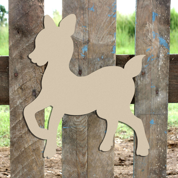 Woodland Deer, Baby Deer Unfinished Cutout, Wooden Shape,  Paintable MDF DIY