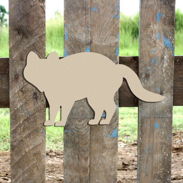 Woodland Fox, Unfinished Cutout, Wooden Shape,  Paintable MDF DIY