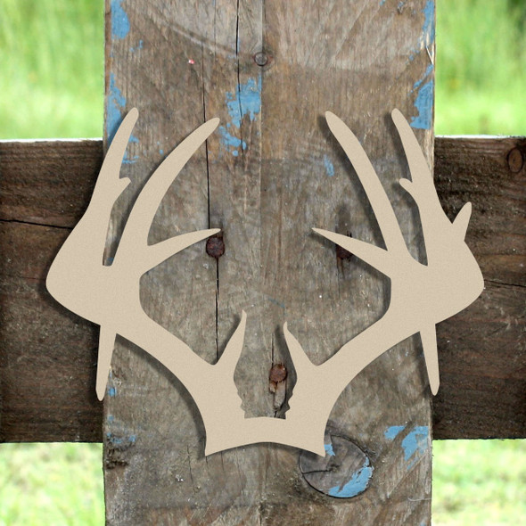 Droptine Antlers  Wooden (MDF) Cutout - Unfinished  DIY Craft