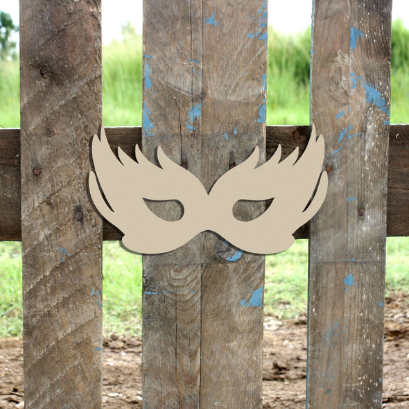 Mask Unfinished Cutout, Wooden Shape, Paintable Wooden MDF DIY
