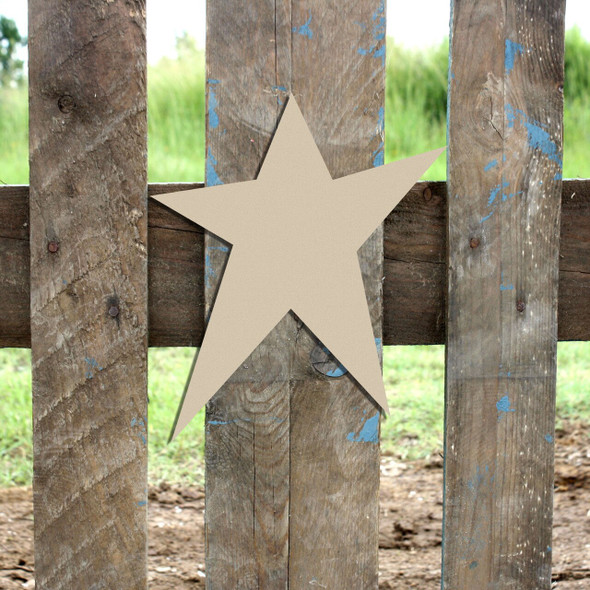 Star 3 Cutout Paintable Wooden MDF DIY