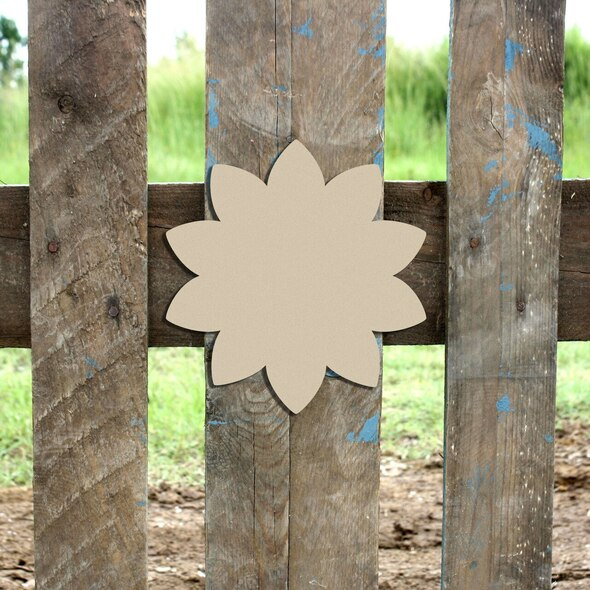 Wooden Sunflower Cutout Paintable Wooden MDF DIY