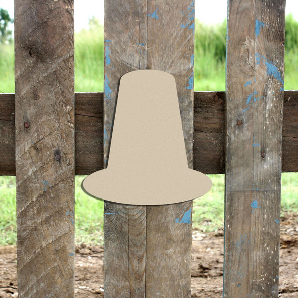 Pilgrim Hat Cutout Paintable DIY