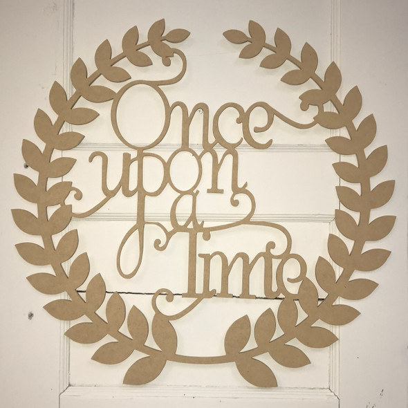Roman Wreath - Once Upon A Time Unfinished Cutout MDF