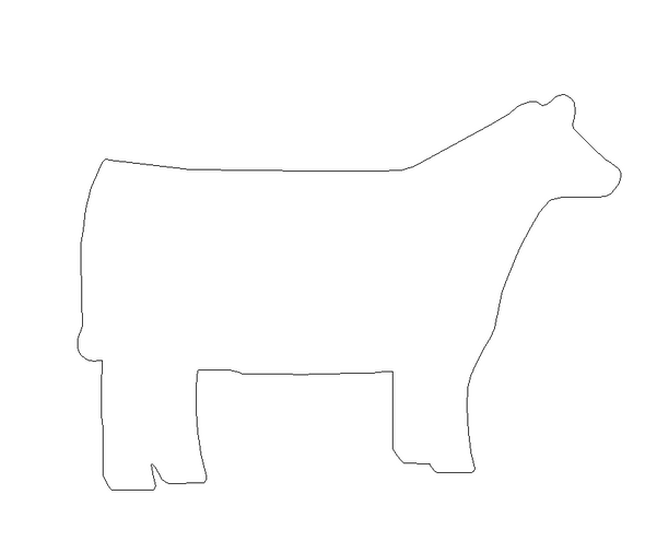 New Cow Unfinished Cutout, Wooden Shape, Paintable Wooden MDF DIY Craft
