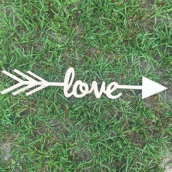 Arrow with word inside (love) DIY Unfinished Craft Shape