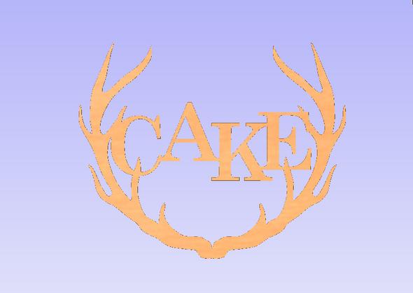 Wide Antler Block Cake Unfinished Cutout, Wooden Shape, MDF DIY Craft