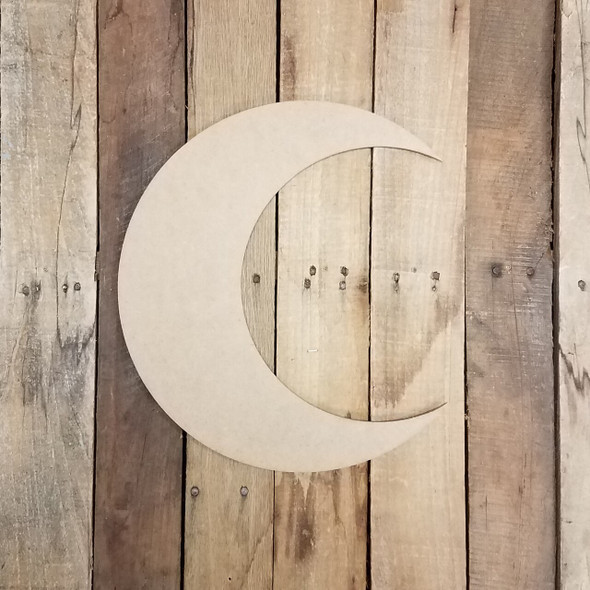 Crescent Moon Unfinished Cutout