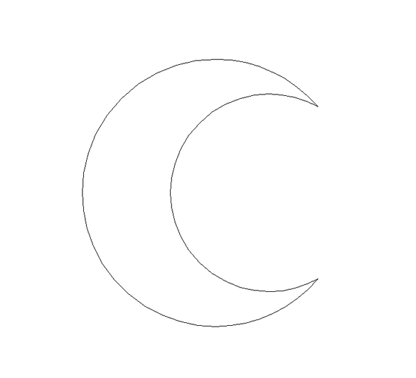 Crescent Moon Unfinished Cutout Paintable Wooden MDF