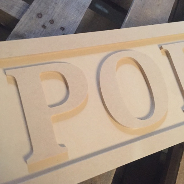 Engraved Wooden Sign 8'' x 31'' Porch, Unpainted Wooden Letter Craft