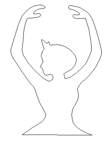 Ballerina Torso Unfinished Cutout, Wooden Shape, Paintable MDF DIY