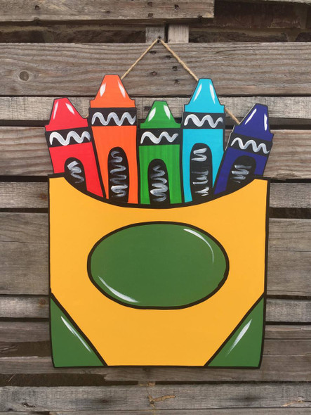 Pack of Crayons Unfinished Cutout, Wooden Shape MDF Cutout DIY Project