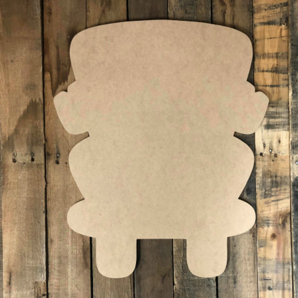 School Bus Unfinished Cutout, Wooden Back to School Shape MDF Cutout Wood Craft