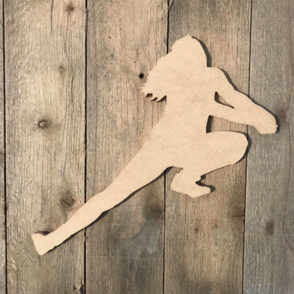 Volleyball Player Save Ball Wooden Unfinished Shape