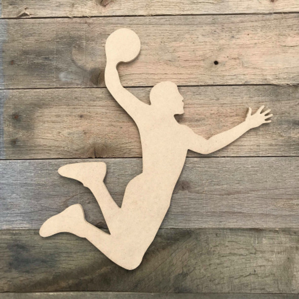 Basketball Player Dunk Sport Wood MDF Paintable Cutout