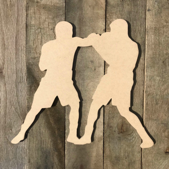 Boxing Match Fighting Sport Wood Shape Unpainted MDF