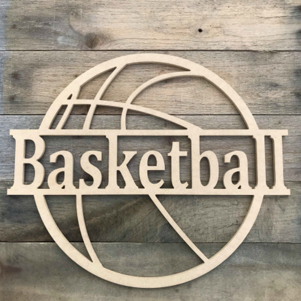 Basketball Name Frame Family Name, Unfinished Framed Monogram