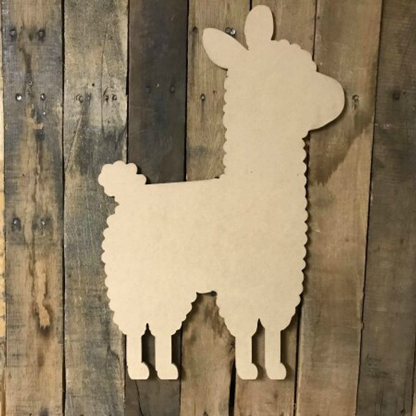 Llama 2 Paintable Wooden MDF