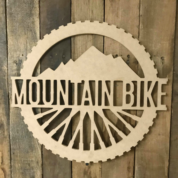 Mountain Bike Name Frame Unfinished Framed Monogram