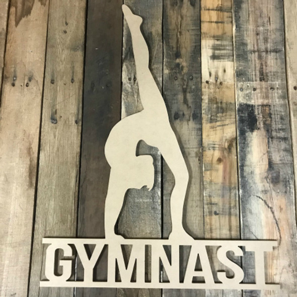 Gymnastics Frame Unfinished Framed Monogram