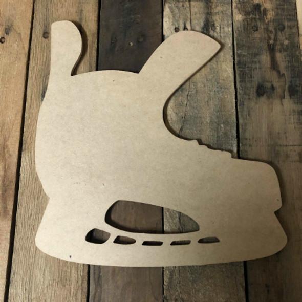 Hockey Skate Unfinished Cutout Hockey Wooden Shape