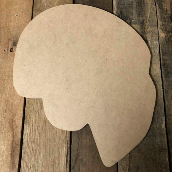 Hockey Goaltending Mask Unfinished Cutout Hockey Wooden Shape
